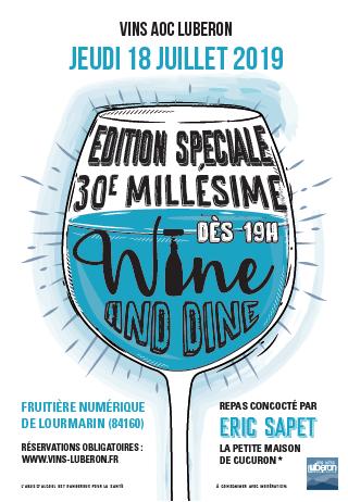 affiche wine & dine 2019